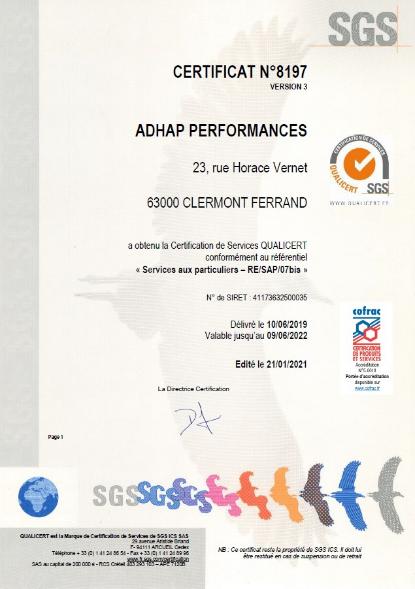 22051612513661028 IMPORTANT  Certification qualité